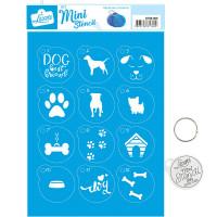 Stencil Mini Dog ..