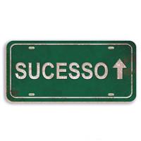 sucesso - aplique adesivado - 8x4cm
