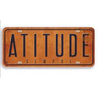 atitude - aplique adesivado - 8x3cm..