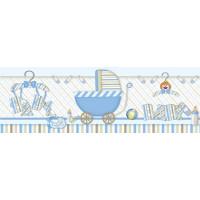 Barra Adesiva XX - Coisas de Bebe - Azul - 61,5x20 cm