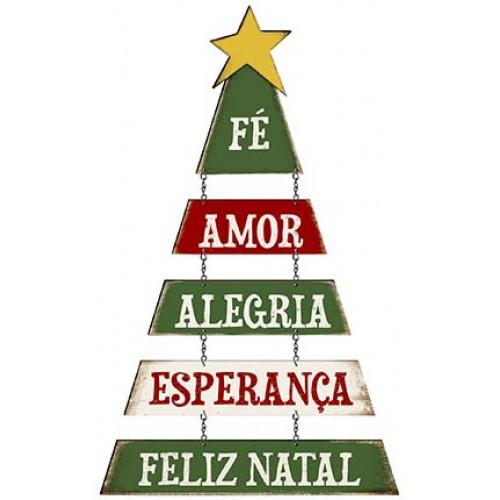 DECOR HOME NATAL - Arvore de Natal Fé, Amor...