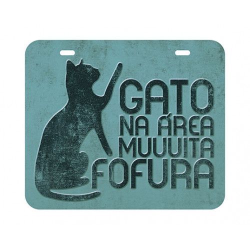DECOR HOME - Placa Gato na área 20x17