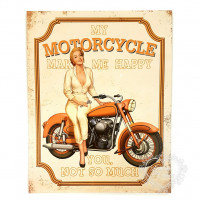 DECOR HOME - Moto vintage 19x24..