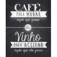 DECOR HOME - Placa Café para.. 19x24..
