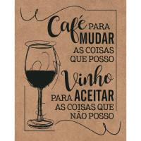DECOR HOME - Placa Café para mudar as co..