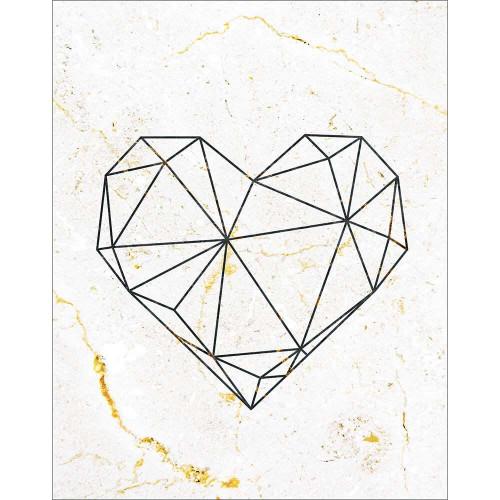 DECOR HOME - Minimalista Coração Geométrico