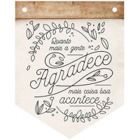 DECOR HOME - Placa Flamula Quanto mais a..