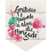 DECOR HOME - Placa Flamula Flamingo Grat..