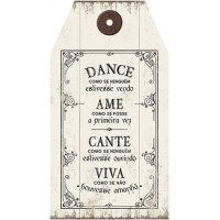DECOR HOME - Placa Tag dance como se ninguem... 19x35