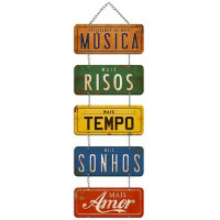 DECOR HOME - Placas com corrente Precisamos de mais...