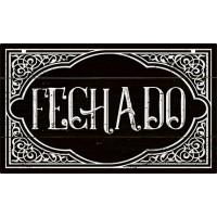 DECOR HOME - Placa porta Fechado 12x20