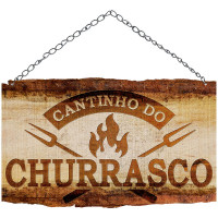 DECOR HOME - Placa Cantinho do Churrasco..