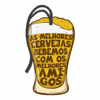 DECOR HOME TAG 2 - Copo cerveja...  7x12,3