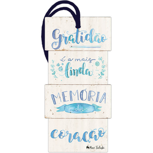 DECOR HOME TAG 2 - Gratidão é a mais linda...