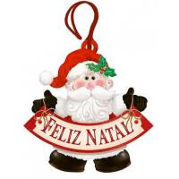DECOR HOME TAG NATAL - Papai Noel Feliz ..
