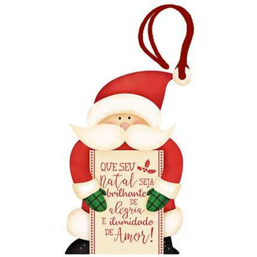 DECOR HOME NATAL - Tag Papai Noel Que seu natal...