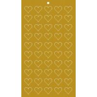 Lacre Coração Ouro 1,5 cm..