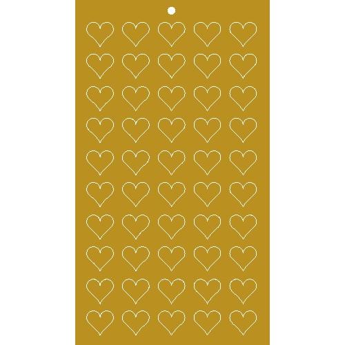 Lacre Coração Ouro 1,5 cm