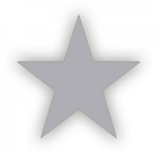 Lacre Estrela Prata 2 cm