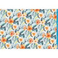 Papel Decoupage - Floral Tropical - 49x3..