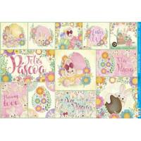 Decoupage Páscoa - Coelha com flores col..