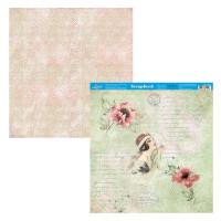 Papel Scrap Flores dama - Dupla Face 30,5x30,5 - 180g