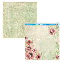 Papel Scrap Flores - Dupla Face 30,5x30,..