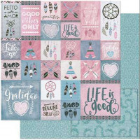 Papel Scrap Tags Tribais Rosa e Cinza - ..