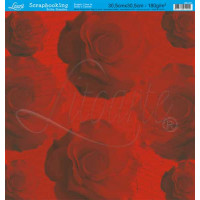 Papel Scrapbooking Rosas - 30,5 x 30,5 - 180g - face única