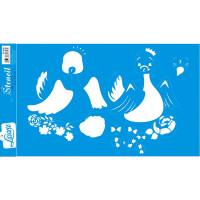Stencil Cisne bebê - Sobreposição - 21x34,4 cm