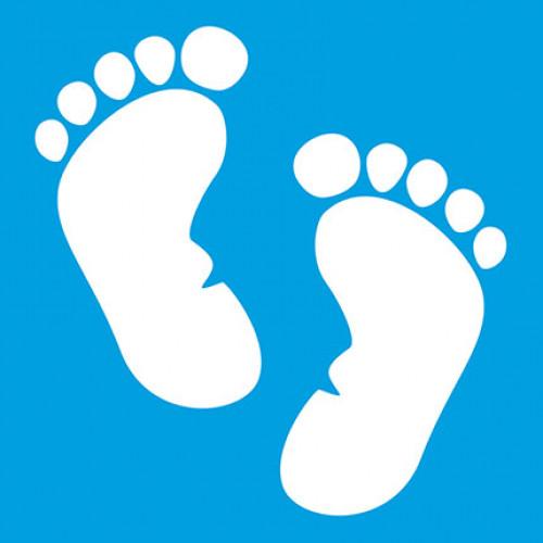 Stencil pés de bebê 10x10