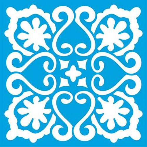 Stencil Azulejo - 10 x 10 cm