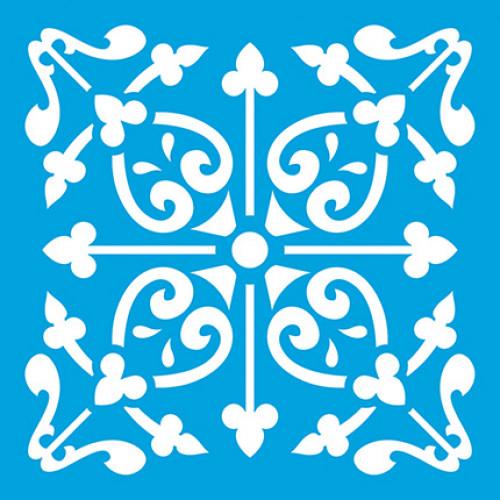 Stencil Azulejo 3 - 10 x 10 cm