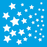 Stencil Estrelas - 10x10 cm