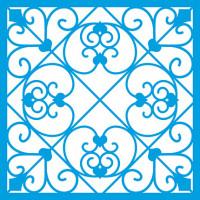 Stencil Azulejo e Arabescos 14x14 cm..