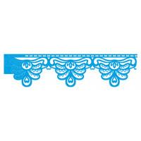 Stencil Barra 2 - Barrado Rendado - 27,80 x 8,40 cm