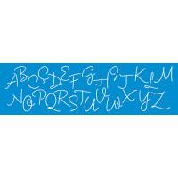 Stencil alfabeto cursivo maiúsculo 28,6 x 8,4