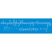 Stencil alfabeto cursivo minúsculo 28,6 x 8,4