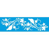 Stencil Passarinhos e Flores - 28,6x8,4 cm