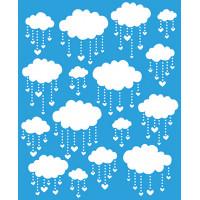 Stencil Estampa Chuva de Benções - 17 x 21 cm
