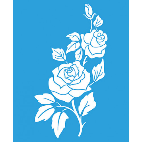 Stencil Rosas - 17 x 21 cm