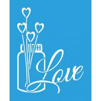 Stencil Vidro Love Aromatizador - 17x21 cm