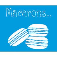 Stencil Macarons - 17x21 cm..