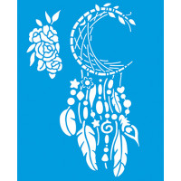 Stencil Filtro dos Sonhos Lua - Sobreposição - 17x21 cm