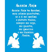 Stencil Santo Anjo e Anjinhos - 17x21 cm..