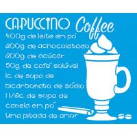 Stencil Café Capuccino 17x21 cm