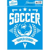 Stencil Escudo Futebol - 17x21 cm ..