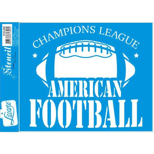 Stencil Emblema futebol americano - 17x21 cm