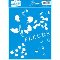 Stencil Flores - Sobreposição - 17x21 cm..