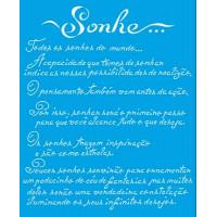 Stencil Texto Sonhe..